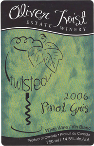 Wine:Oliver Twist Estate Winery 2006 Pinot Gris  (Okanagan Valley)