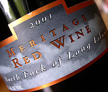 Wine: Osprey's Dominion Vineyards 2001 Flight Meritage  (North Fork of Long Island)