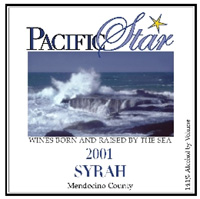 Pacific Star Winery 2001 Syrah  (Mendocino County)