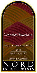 Nord Estate Wines 2003 Cabernet Sauvignon, Page Nord Vineyard (Oak Knoll District of Napa Valley)