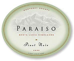 Paraiso Vineyards 2003 Pinot Noir  (Santa Lucia Highlands)