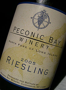 Peconic Bay 2005 Riesling  (North Fork of Long Island)
