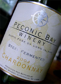 Peconic Bay Winery 2004 Steel Fermented Chardonnay  (North Fork of Long Island)