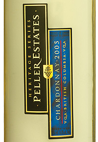 Wine:Peller Estates (BC) 2005 Chardonnay Heritage Series  (British Columbia)
