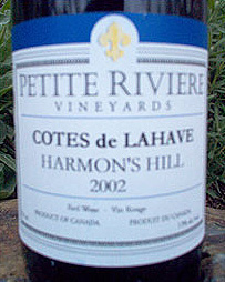 Wine:Petite Riviere Vineyards & Winery 2002  (Nova Scotia)