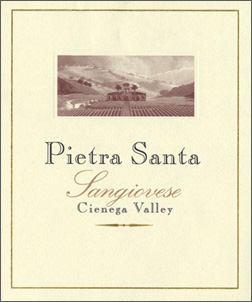 Wine:Pietra-Santa Vineyards and Winery 2003 Sangiovese  (Cienega Valley)