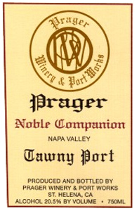 Wine:Prager Winery & Port Works NV Noble Companion Tawny, Priest Ranch (Napa Valley)