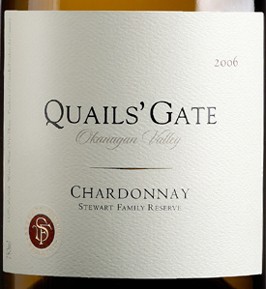 Quails' Gate Estate Winery 2006 Stewart Family Reserve Chardonnay  (Okanagan Valley)