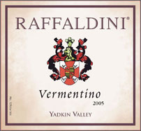 Wine: Raffaldini Vineyards and Winery 2005 Vermentino, Estate (Yadkin Valley)