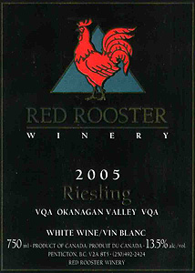 Red Rooster 2005 Riesling (Okanagan Valley)