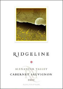 Ridgeline Vineyards 2002 Cabernet Sauvignon  (Alexander Valley)