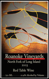 Roanoke Vineyards 2003 Red Table Wine - Blend One  (North Fork of Long Island)