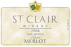 St. Clair Vineyards 2006 Merlot Reserve  (New Mexico)