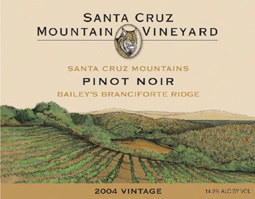 Santa Cruz Mountain Vineyard 2004 Pinot Noir, Bailey's Branciforte Ridge (Santa Cruz Mountains)