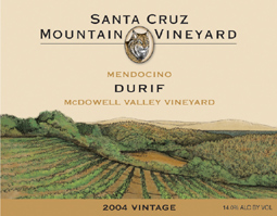 Santa Cruz Mountain Vineyard 2004 Durif, McDowell Valley Vineyard (McDowell Valley)