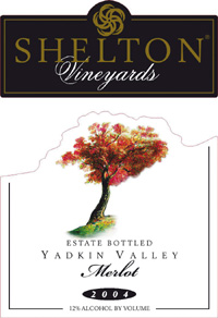 Wine:Shelton Vineyards 2004 Merlot - Estate  (Yadkin Valley)