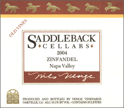 Saddleback Cellars 2004 Old Vine Zinfandel  (Napa Valley)