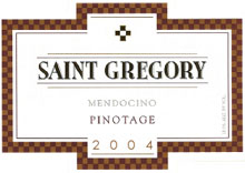 Domaine Saint Gregory 2004 Pinotage  (Mendocino)