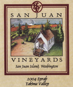 San Juan Vineyards 2004 Syrah  (Yakima Valley)