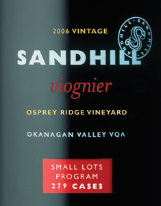 Wine:Sandhill 2006 Viognier - Small Lots, Osprey Ridge Vineyard (Okanagan Valley)