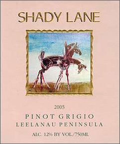 Wine:Shady Lane Cellars 2005 Pinot Grigio  (Leelanau Peninsula)