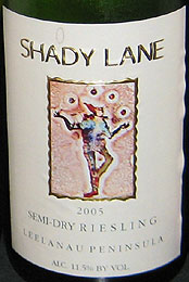 Shady Lane Cellars Semi-Dry Riesling