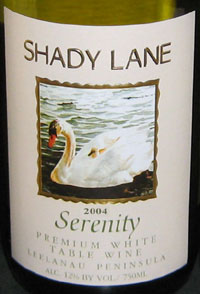 Wine: Shady Lane Cellars 2004 Serenity  (Leelanau Peninsula)