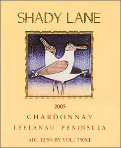 Wine:Shady Lane Cellars 2005 Chardonnay  (Leelanau Peninsula)