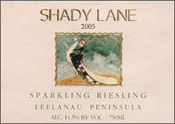 Wine:Shady Lane Cellars 2005 Sparkling Riesling  (Leelanau Peninsula)