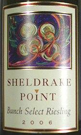 Sheldrake Point Vineyard 2006 Bunch Select Riesling  (Finger Lakes)