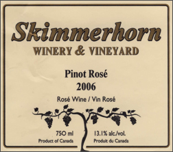 Wine:Skimmerhorn Winery & Vineyard 2006 Pinot Noir Rosé  (British Columbia)