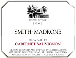Wine: Smith-Madrone Vineyards & Winery 2002 Cabernet Sauvignon  (Spring Mountain District)