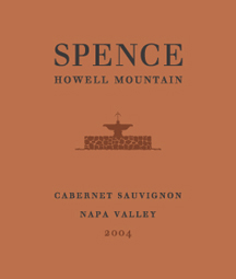 Spence Vineyards 2004 Cabernet Sauvignon  (Howell Mountain)