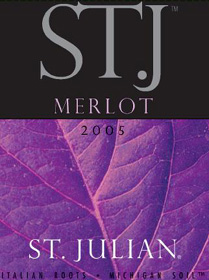 St. Julian Wine Co. 2005 ST. J Merlot  (Lake Michigan Shore)