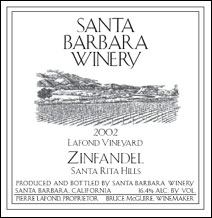 Santa Barbara Winery Zinfandel