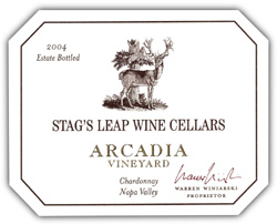 Stag's Leap Wine Cellars 2004 Chardonnay, Arcadia Vineyard (Napa Valley)