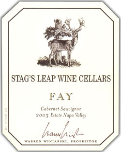 Stag's Leap Wine Cellars 2003 Cabernet Sauvignon , FAY (Stags Leap District)