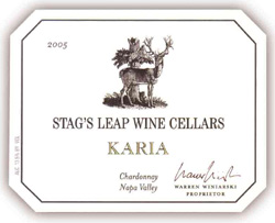 Stag's Leap Wine Cellars 2005 Karia Chardonnay  (Napa Valley)