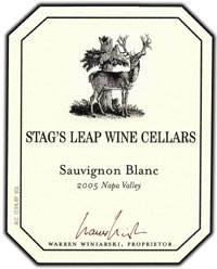Stag's Leap Wine Cellars 2005 Sauvignon Blanc  (Napa Valley)