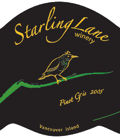 Starling Lane Winery 2005 Pinot Gris  (Vancouver Island)