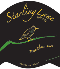 Starling Lane Winery 2005 Pinot Blanc  (Vancouver Island)