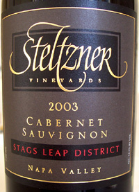 Wine:Steltzner Vineyards 2003 Cabernet Sauvignon, Estate (Stags Leap District)