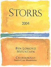 Storrs Winery 2004 Chardonnay  (Ben Lomond Mountain)
