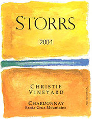 Storrs Winery 2004 Chardonnay, Christie Vineyard (Santa Cruz Mountains)