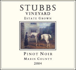 Stubbs Vineyard 2004 Pinot Noir, Estate (Marin County)