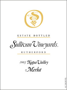 Wine: Sullivan Vineyards 2003 Merlot, Estate (Rutherford)
