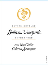 Sullivan Vineyards 2003 Cabernet Sauvignon, Estate (Rutherford)