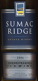 Sumac Ridge Estate Winery 2006 Gewurztraminer Icewine  (Okanagan Valley)