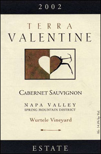 Wine: Terra Valentine 2002 Cabernet Sauvignon , Wurtele Vineyard (Spring Mountain District)