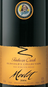 Tinhorn Creek Vineyards 2004 Oldfield's Collection Merlot  (Okanagan Valley)